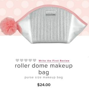 NEW Benefit Roller Dome Makeup Bag with Pom Pom